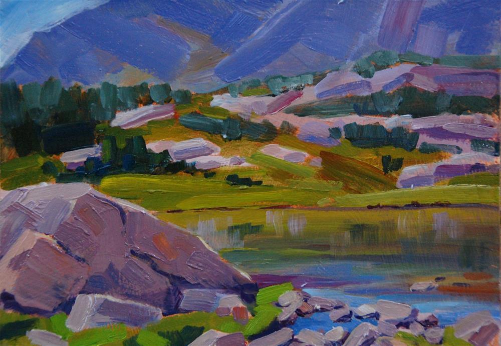 """Lion Lake"" original fine art by Gary Alsum"