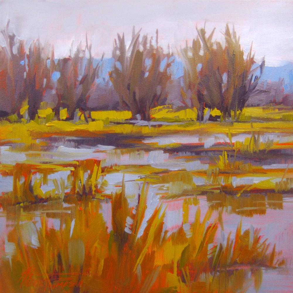 """""""Winter Delta"""" original fine art by Melanie Thompson"""
