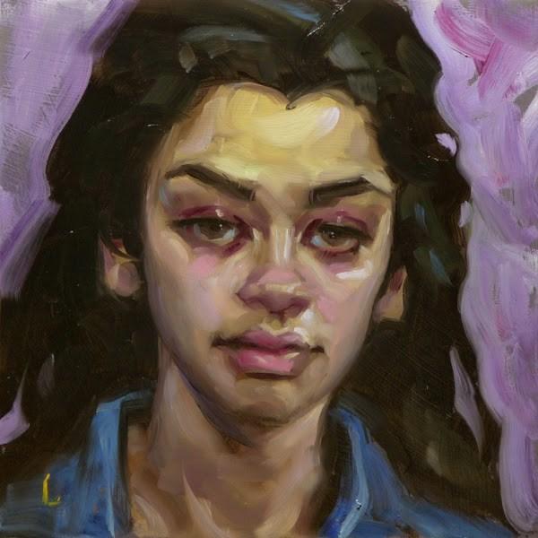 """Wandering Violet"" original fine art by John Larriva"