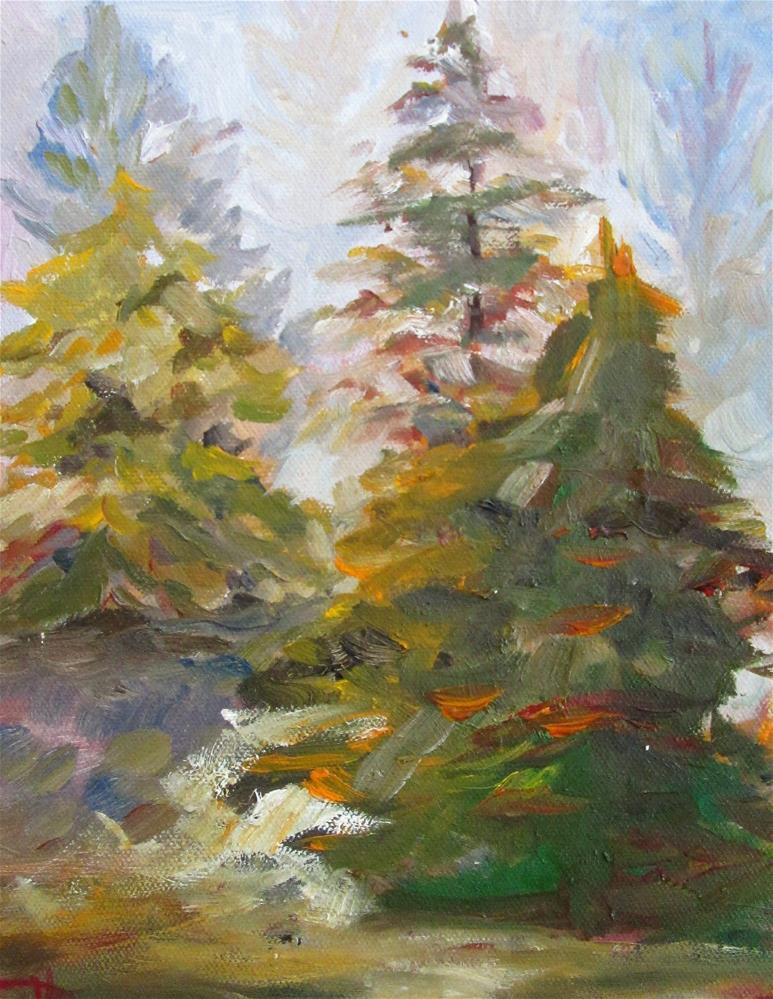 """Piney Woods"" original fine art by Delilah Smith"