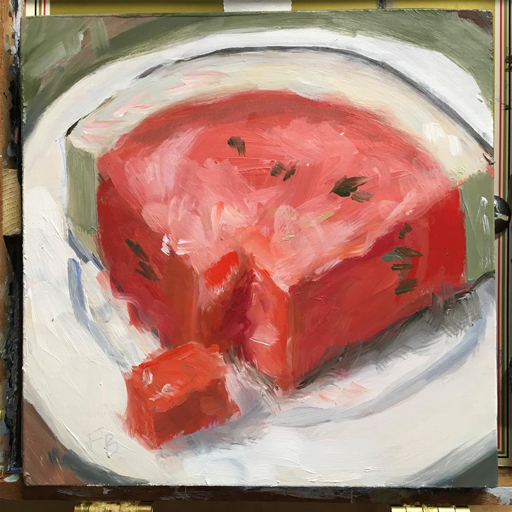 """076 Watermelon"" original fine art by Fred Bell"