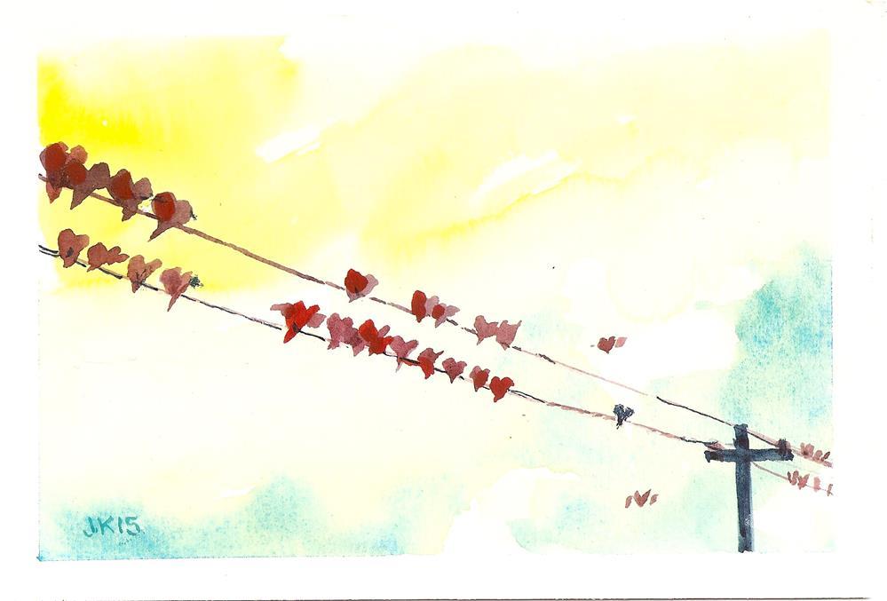 """""""Roadside Hearts"""" original fine art by Jean Krueger"""