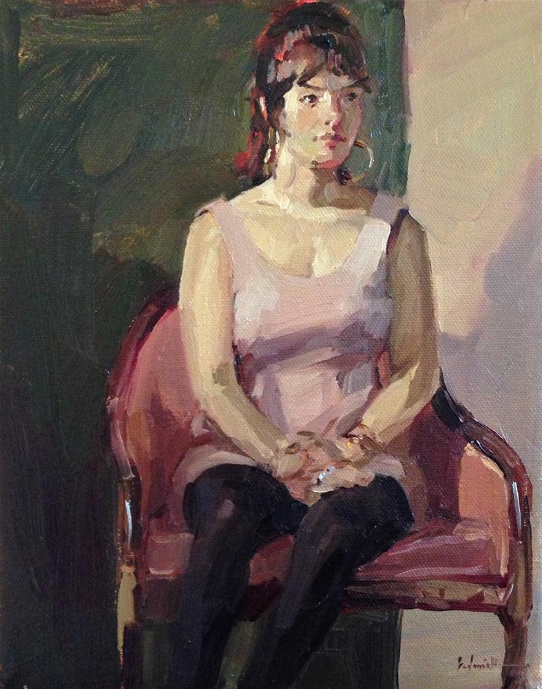 """The Pale Pink Dress"" original fine art by Sarah Sedwick"