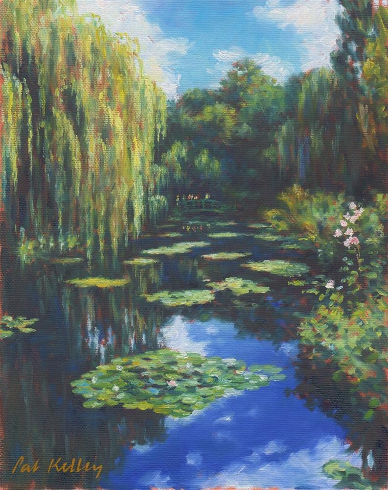 """Monet's Waterlily Pond"" original fine art by Pat Kelley"