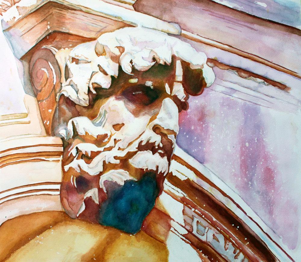 """""""The Silent Venetian"""" original fine art by Christiane Kingsley"""