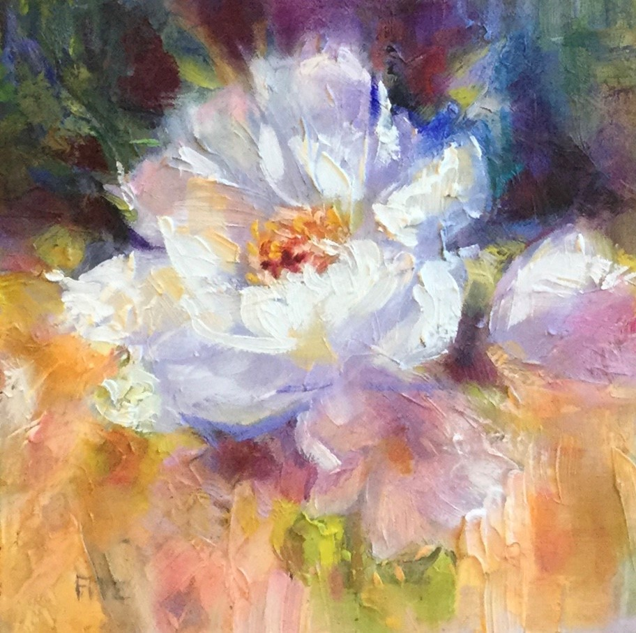 """Snow White Peony"" original fine art by Charlotte Fitzgerald"