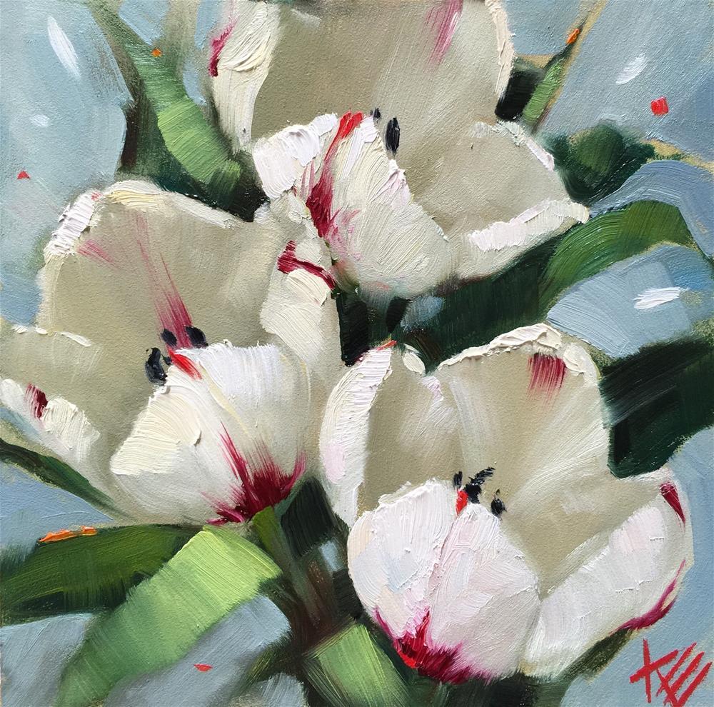 """Blazing Hearts"" original fine art by Krista Eaton"