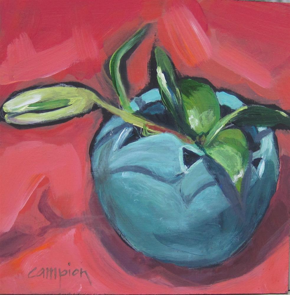 """117 One Bud Left"" original fine art by Diane Campion"