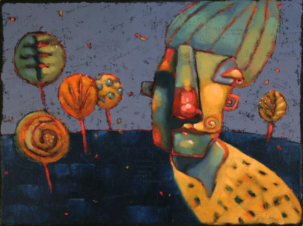 """Hide And Seek In The Garden Of Sweet Trees"" original fine art by Brenda York"