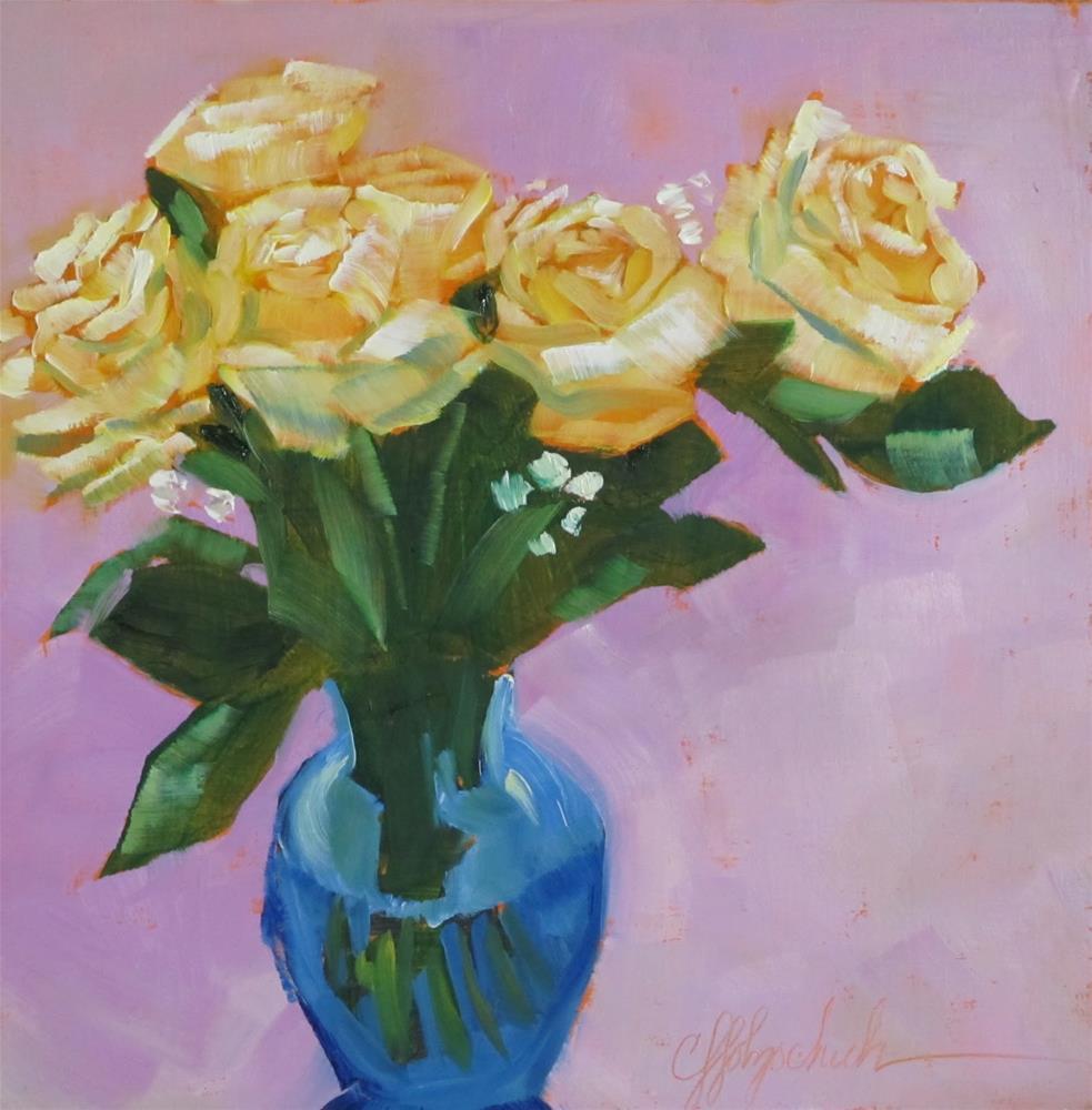 """Rose Bouquet"" original fine art by Christine Holzschuh"