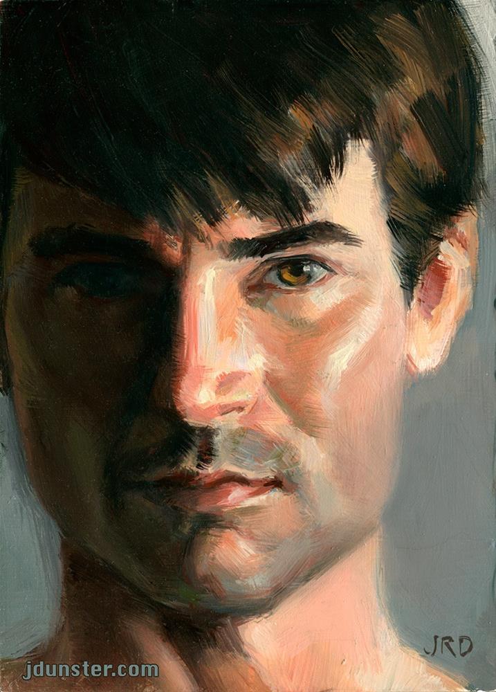 """Half Shadow - Zorn Palette"" original fine art by J. Dunster"