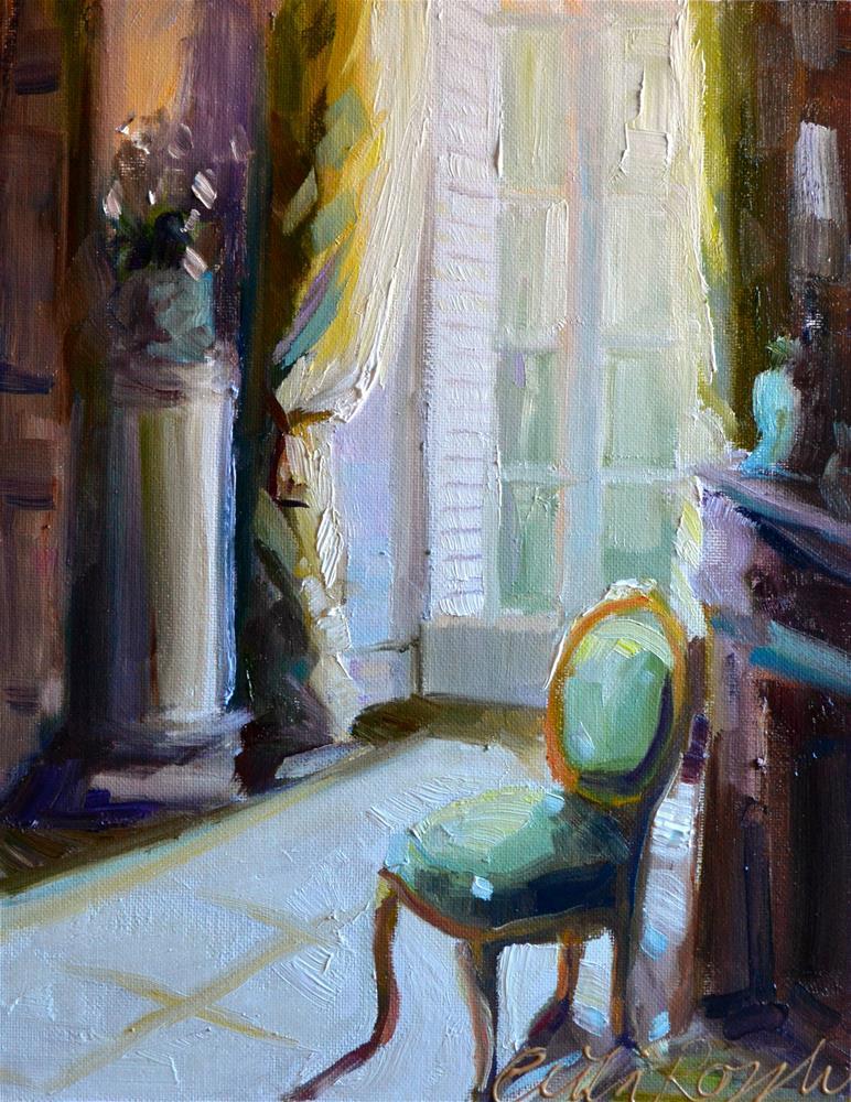 """""""LA CHAMBRE VERTE"""" original fine art by Cecilia Rosslee"""