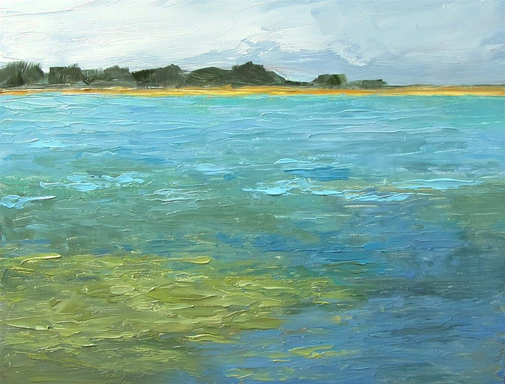 """A Walk by the Pond"" original fine art by Karen Johnston"