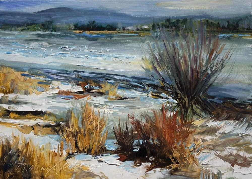 """""""Ice On The River #2"""" original fine art by Denise Maxwell"""