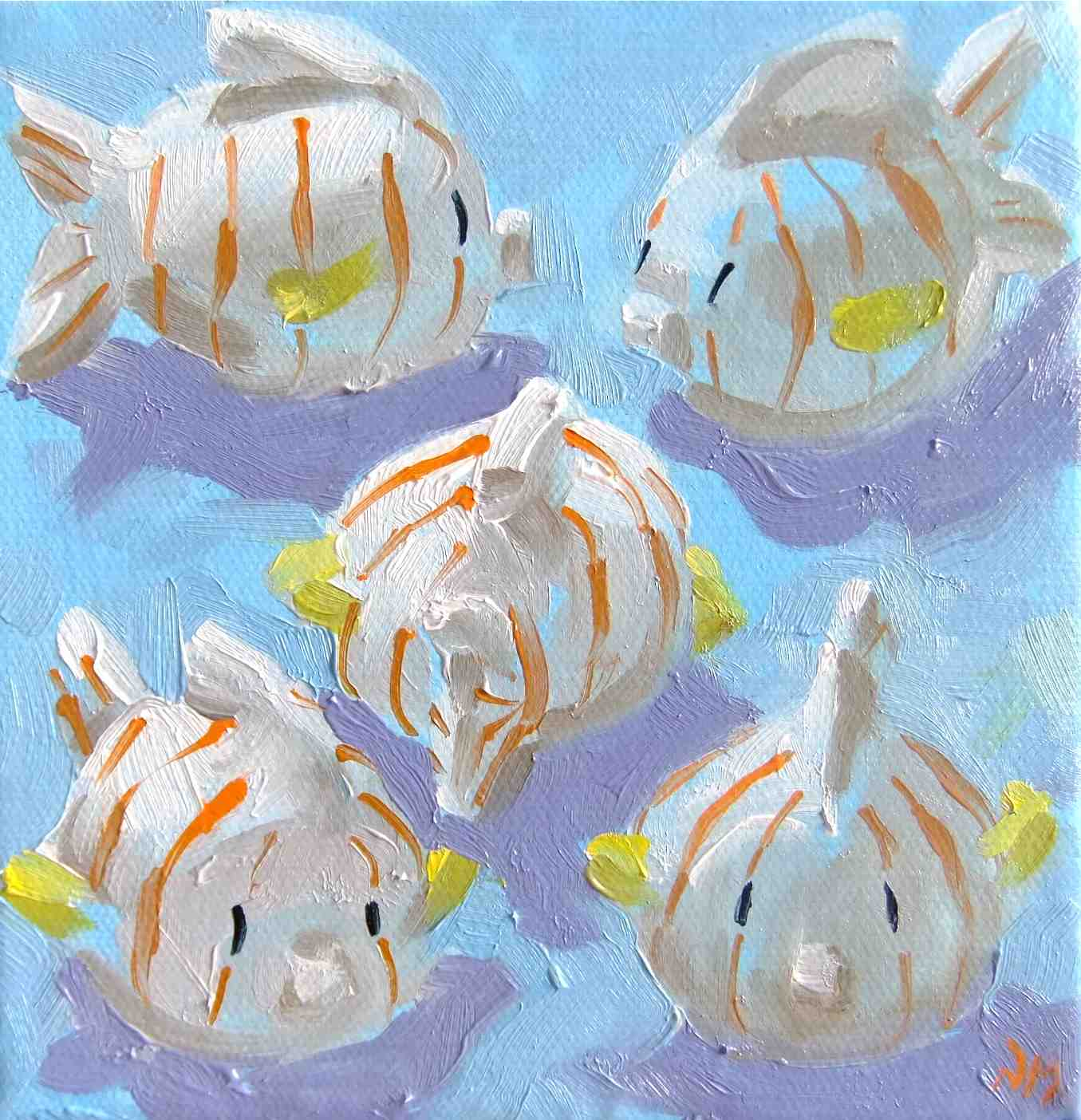 """there's something fishy going on here..."" original fine art by Nora MacPhail"