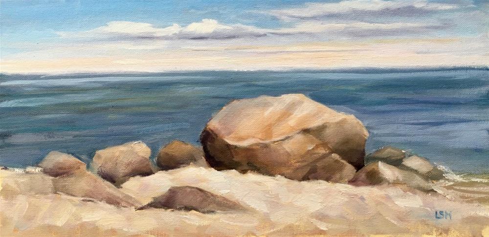 """Rocky Shore, Madison CT"" original fine art by Linda Marino"