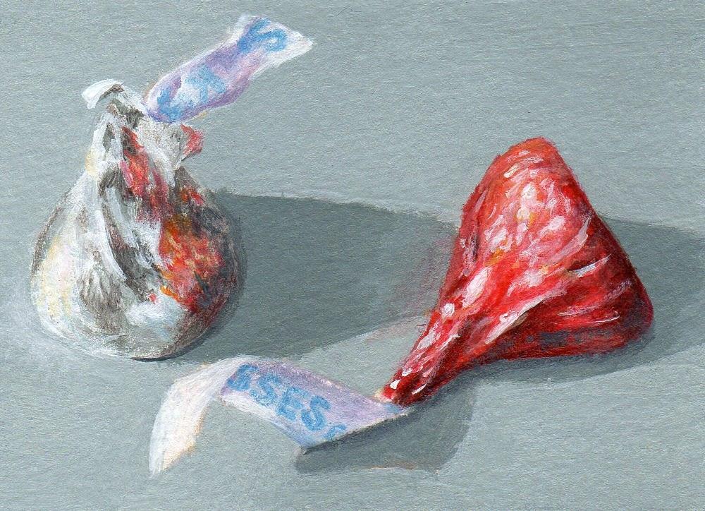 """Kissing Up, Too"" original fine art by Debbie Shirley"