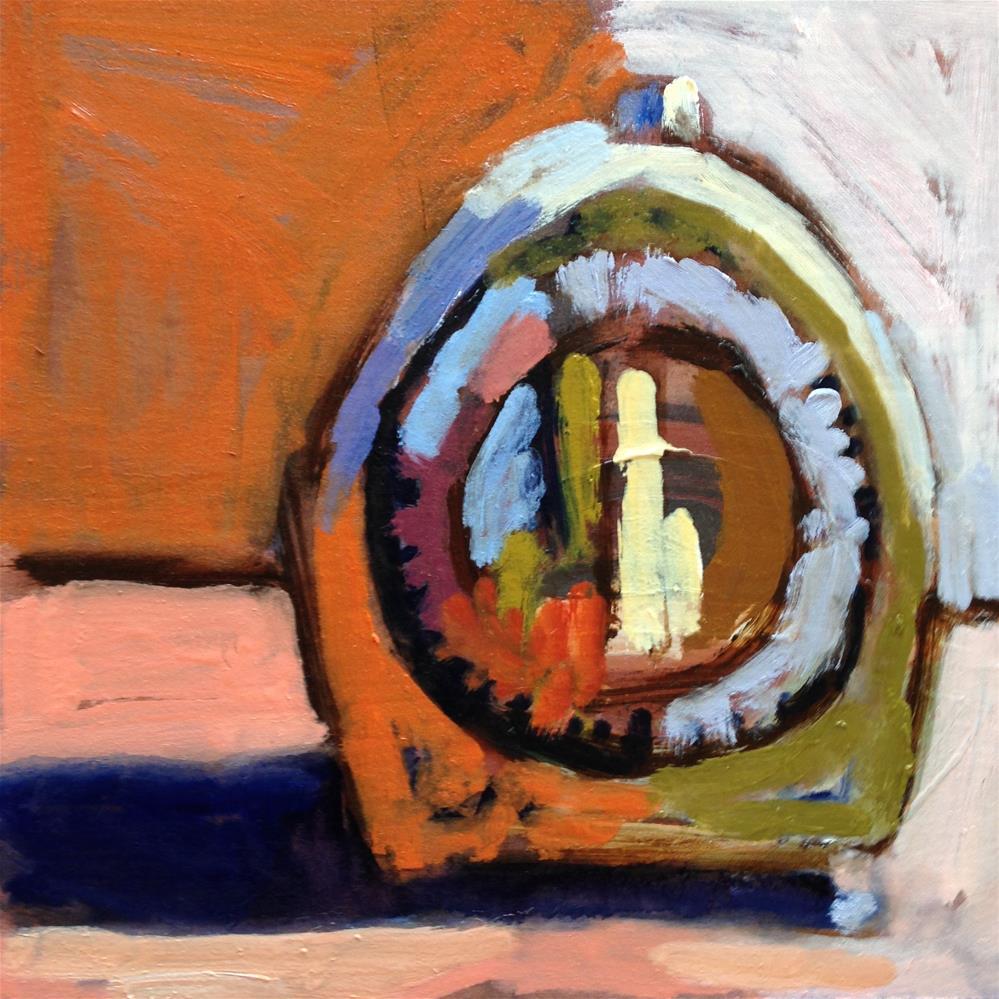 """My Clock's Cousin"" original fine art by Pamela Hoffmeister"