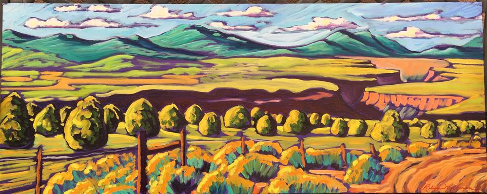 """""""Rio Grande Gorge"""" original fine art by Robyn Suzanne"""