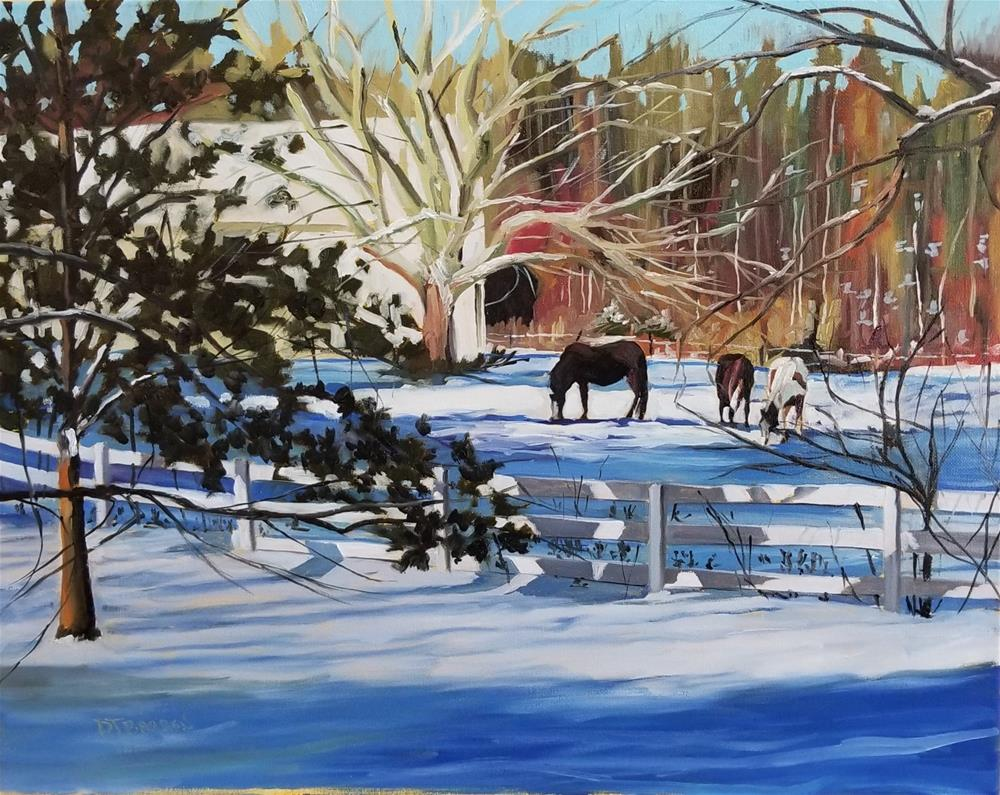 """Winter Paddock"" original fine art by Douglas Barron"