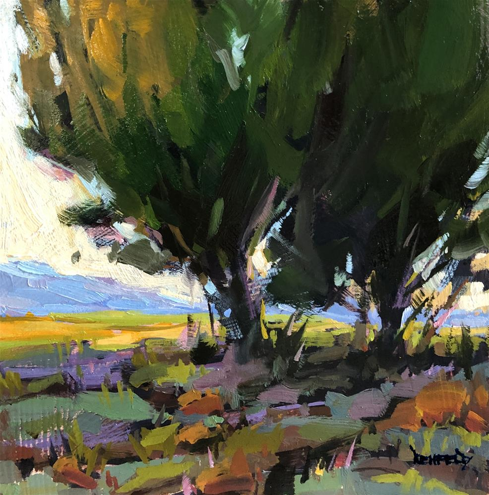 """Color of Tree Shadows"" original fine art by Cathleen Rehfeld"