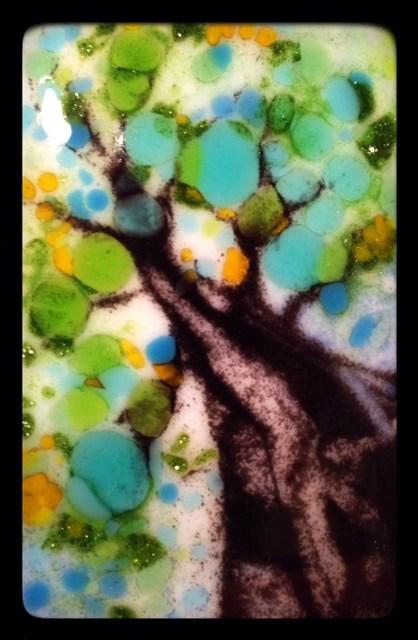 """Tiny Tree Glass Sketch"" original fine art by Kelly Alge"