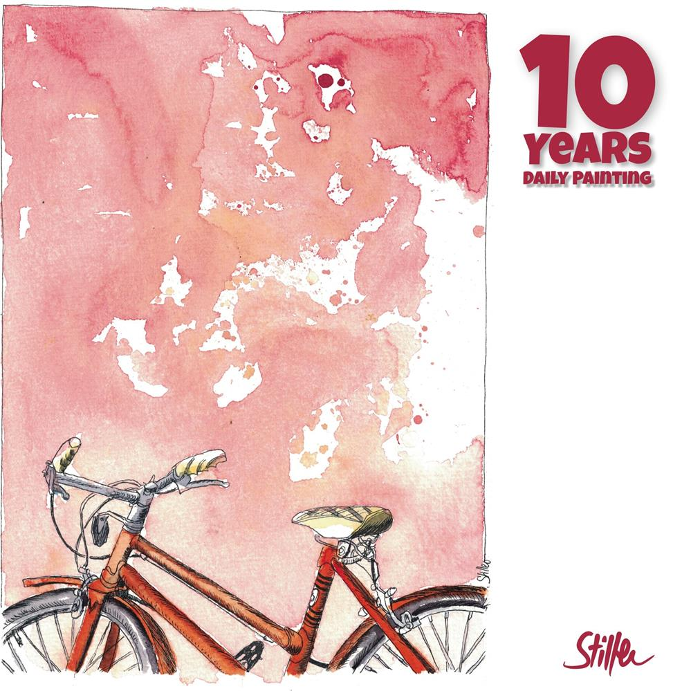 """""""3672 Wall Bike"""" original fine art by Dietmar Stiller"""