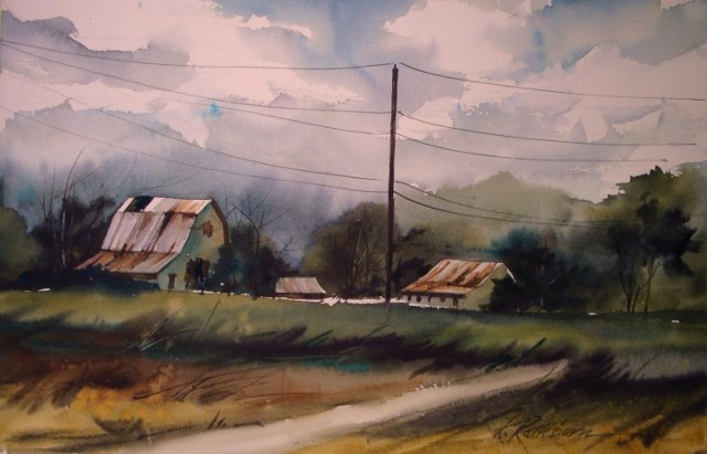 """The Greening of the Farm"" original fine art by Kathy Los-Rathburn"