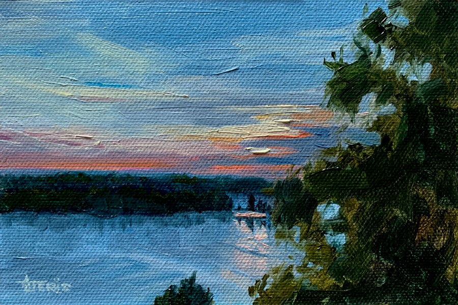 """Glen Lake Sunset"" original fine art by Andrea Jeris"