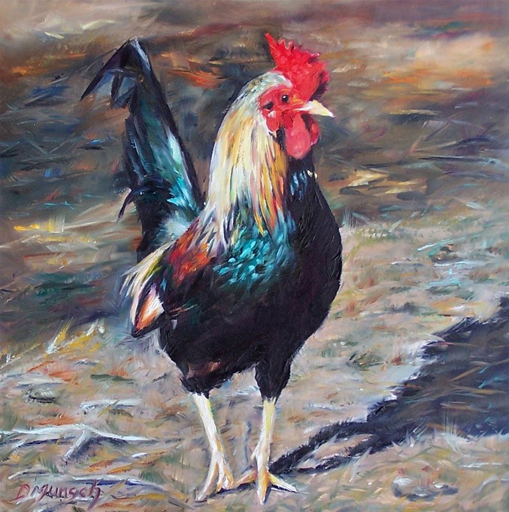 """Wild Rooster"" original fine art by Donna Munsch"