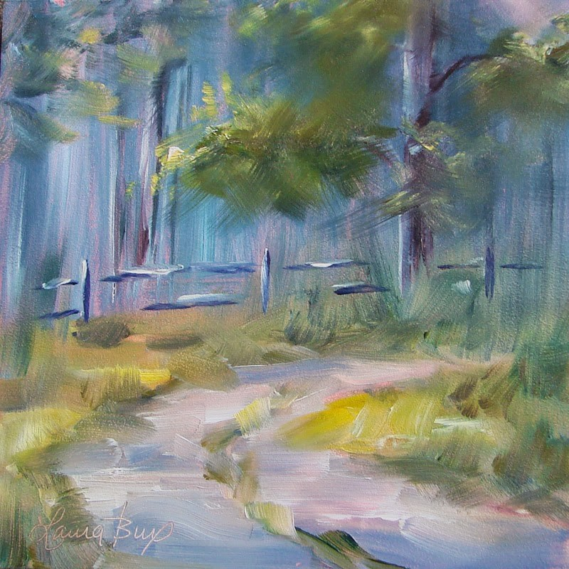 """Country Road - 212"" original fine art by Laura  Buxo"