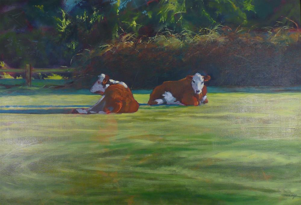 """""""Two for the Road"""" original fine art by Sharman Owings"""
