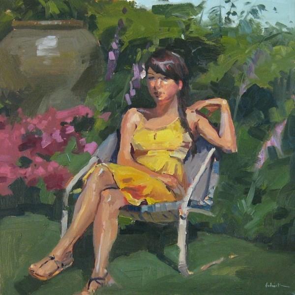 """In Patti's Garden"" original fine art by Sarah Sedwick"