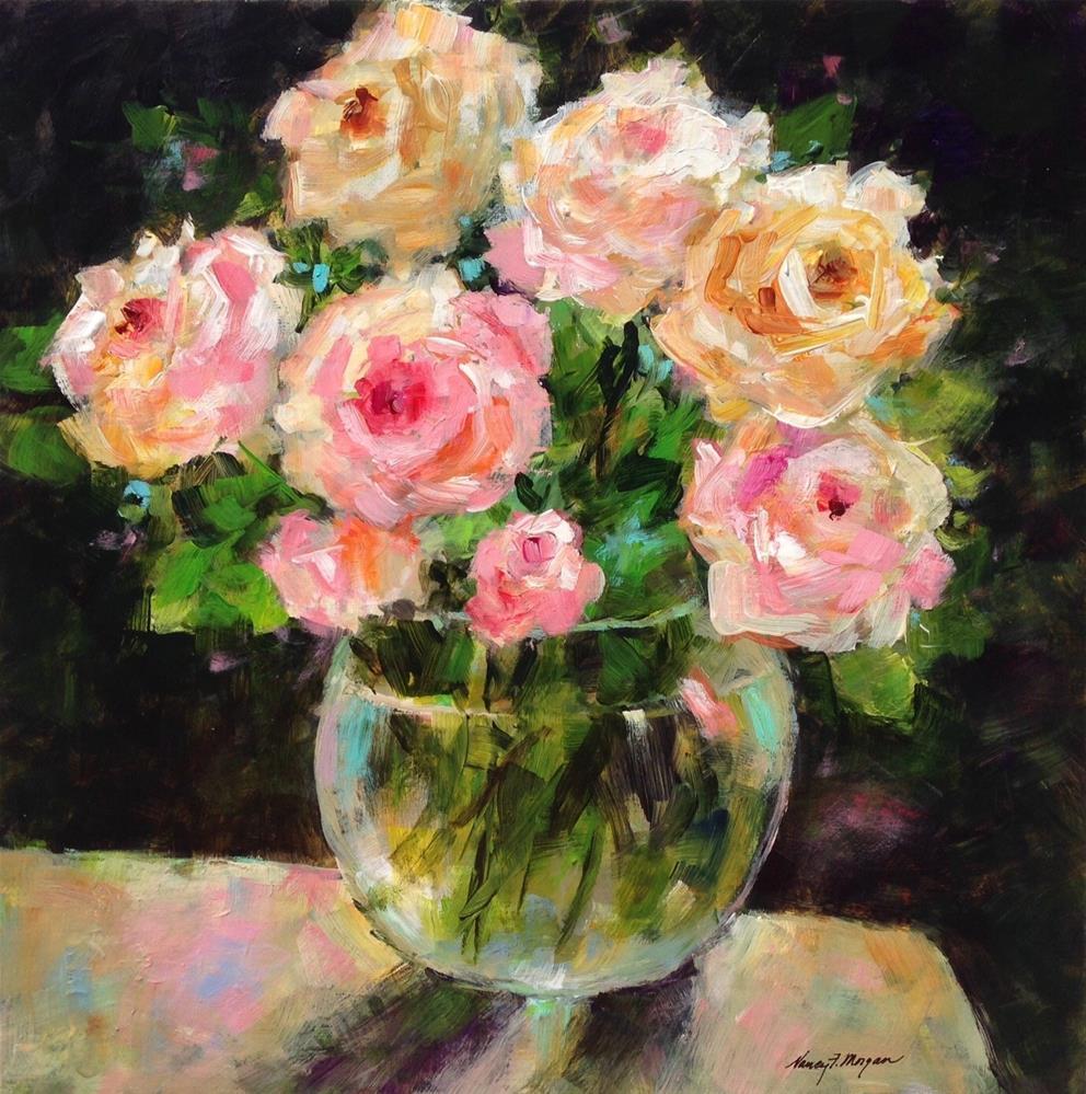 """Smell the Roses"" original fine art by Nancy F. Morgan"