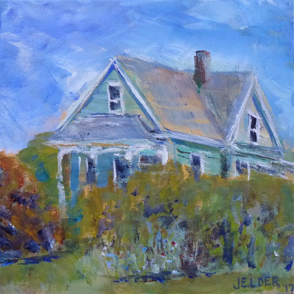 """Old House"" original fine art by Judith Elder"