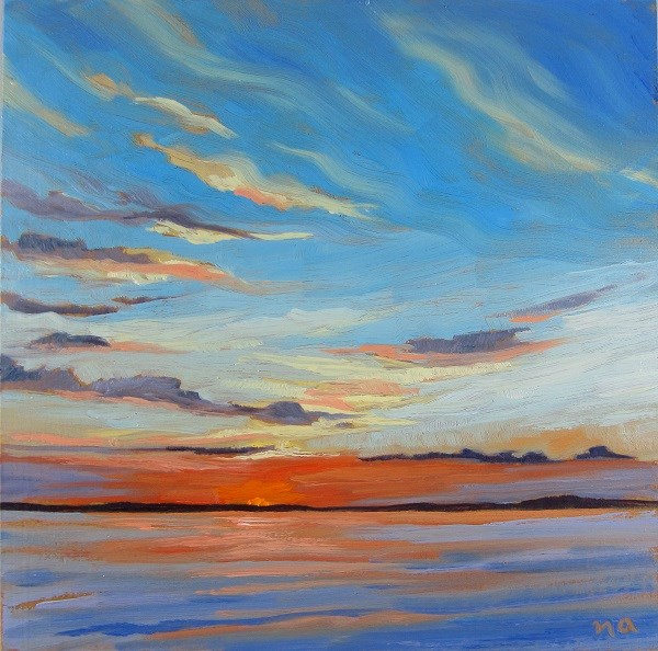 """Complimentary Sunset"" original fine art by Nicki Ault"