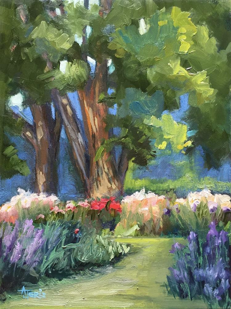 """Trees at the Iris Farm"" original fine art by Andrea Jeris"