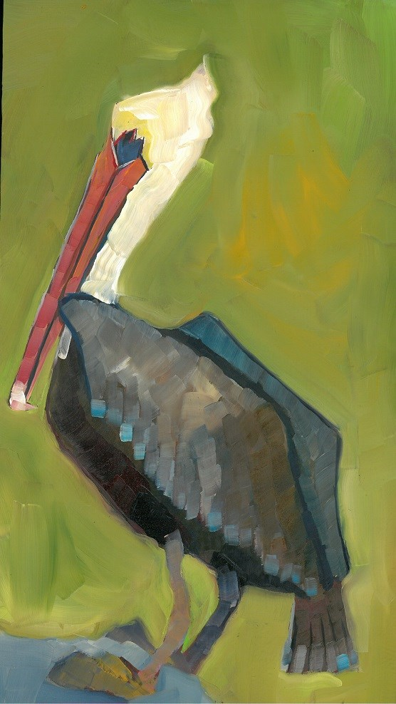 """Brown Pelican"" original fine art by Elizabeth See"