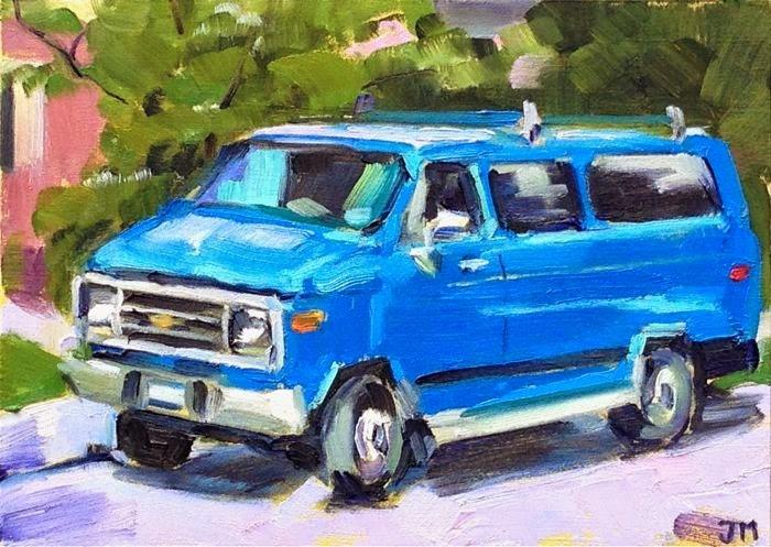 """""""Tom Vasta's Van"""" original fine art by Jessica Miller"""