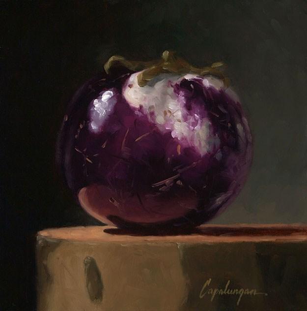 """""""Sicilian Eggplant on Sycamore"""" original fine art by David Capalungan"""