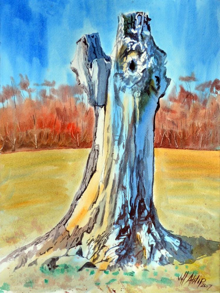 """Stump"" original fine art by Jeff Atnip"