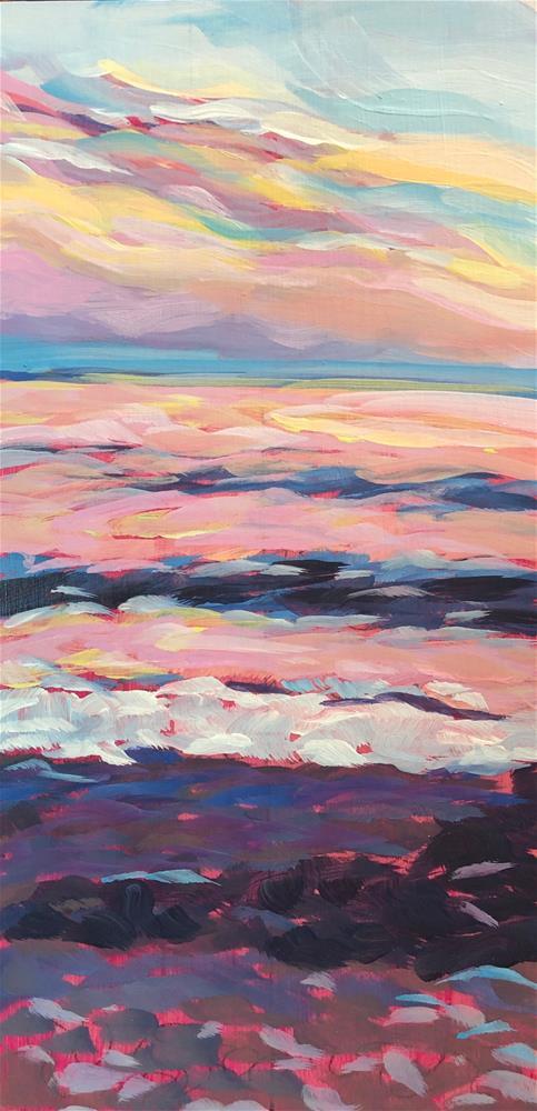 """Sunset Striations"" original fine art by Kat Corrigan"