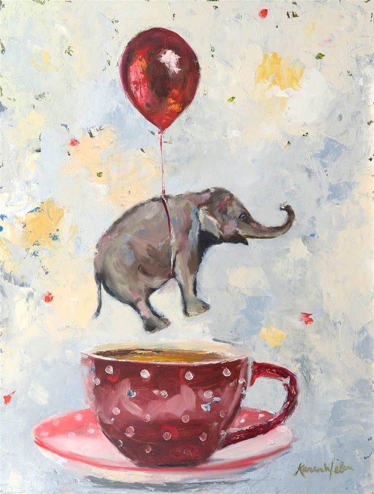 """Dreaming of Tea"" original fine art by Karen Weber"