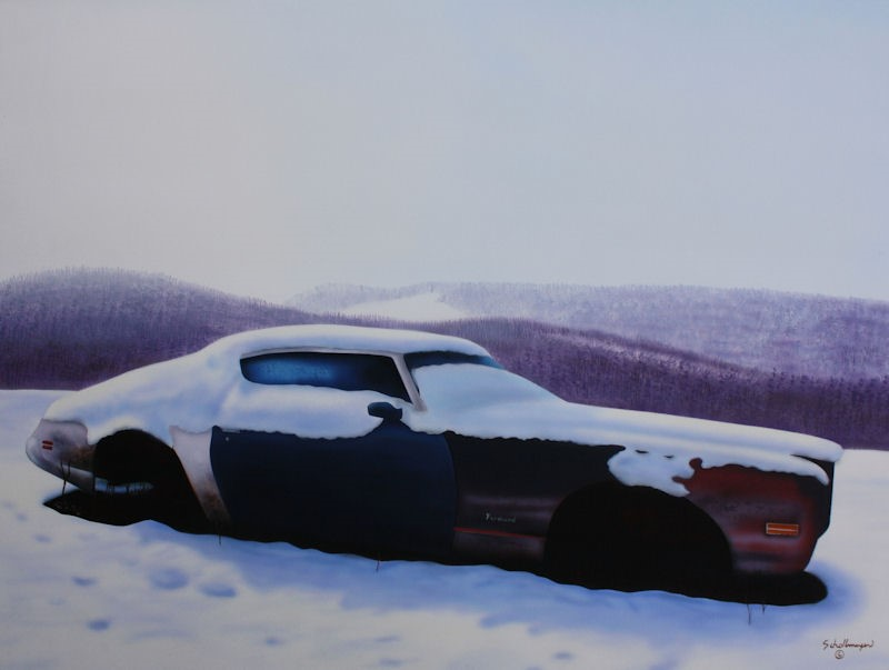 """""""The Last Muscle Car"""" original fine art by Fred Schollmeyer"""