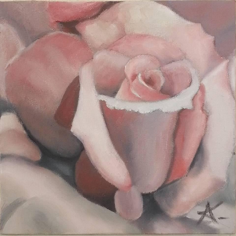 """purple rose 69"" original fine art by Konstantia Karletsa"