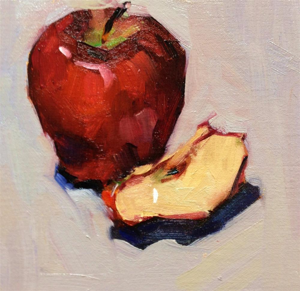 """An Apple a Day"" original fine art by Laurie Johnson Lepkowska"