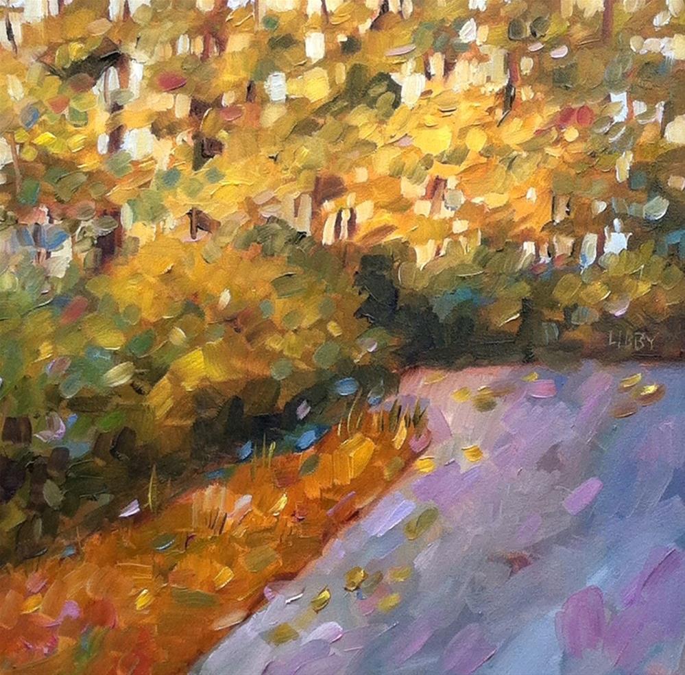 """October Road"" original fine art by Libby Anderson"