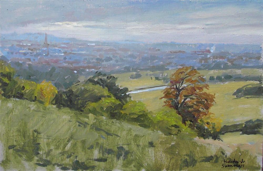 """Looking over Grantham"" original fine art by Haidee-Jo Summers ROI"