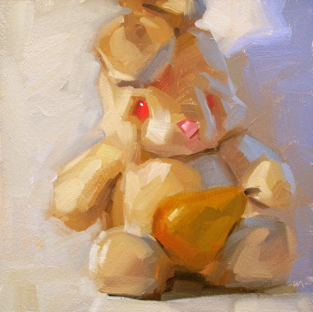 """Pear Love"" original fine art by Carol Marine"
