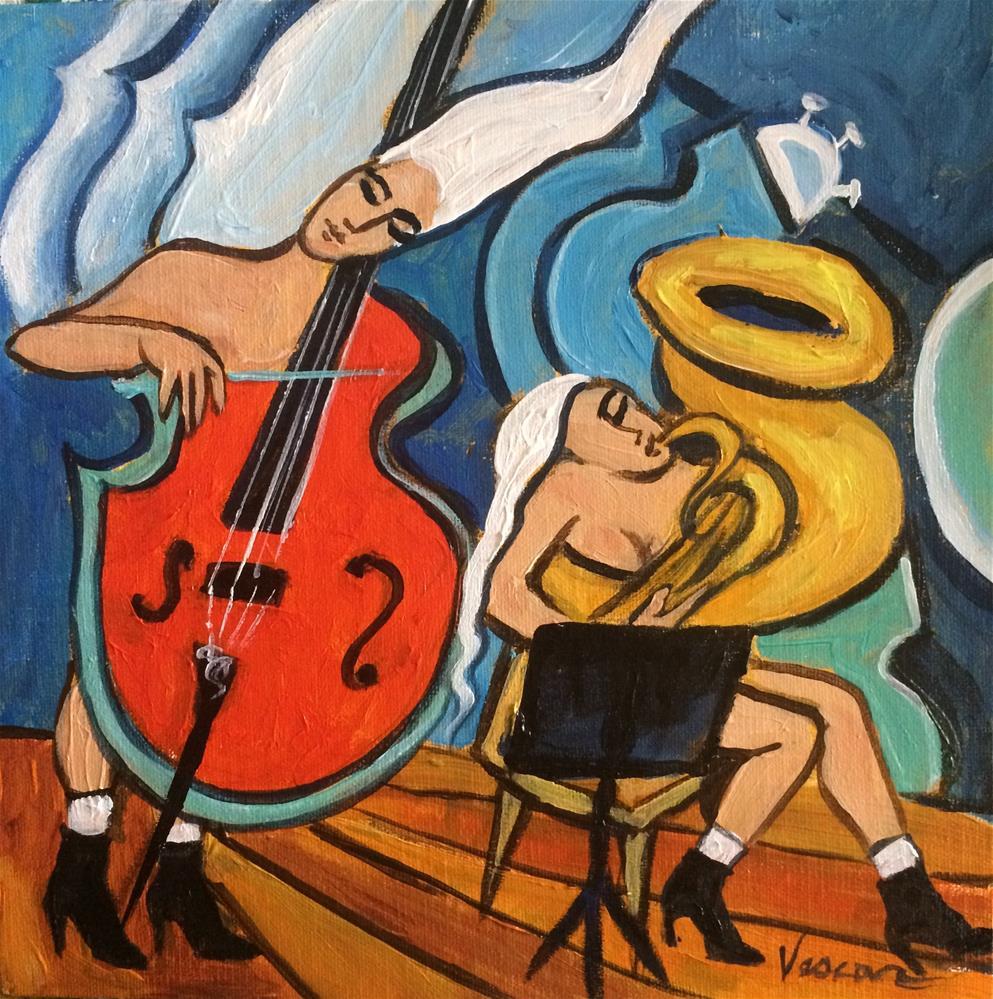 """Tuba Dreams"" original fine art by Valerie Vescovi"